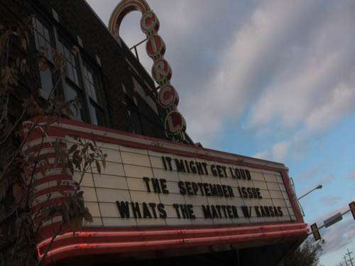 We love seeing the movie's name in lights