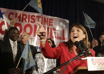 Christine ODonnell AP photo Could eccentric Tea Party backed candidates distract from their backers agenda?