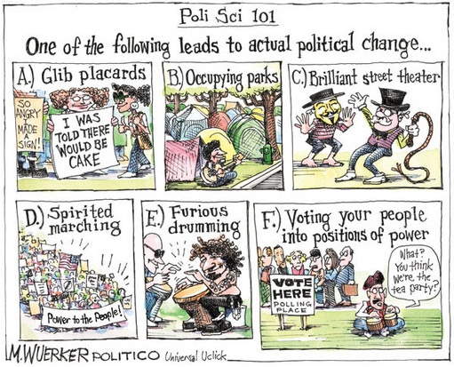 Politico cartoon Ambivalent about Occupy
